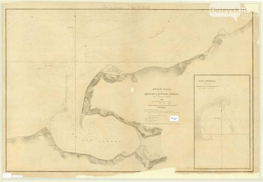карта ейского порта 1851
