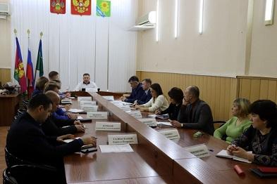 Рабочее совещание под председательством главы района
