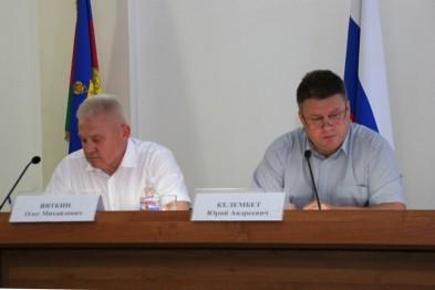 В администрации муниципалитета под председательством главы Ейского района Юрия Келембет прошло расширенное планерное совещание
