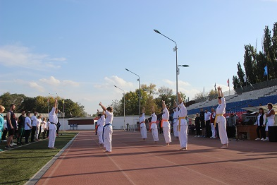 Сегодня в городе Ейске состоялся приём нормативов ГТО