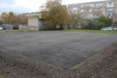 В школе № 7 Ейска ведется ремонт спортивной площадки