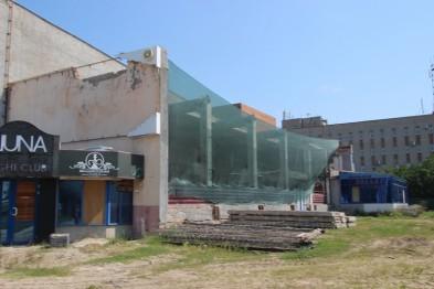 В Ейске ведется ремонт здания кинотеатра «Родина»