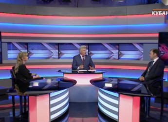 Совместное выступление Владимира Пугиева и министра культуры Кубани на краевом телевидении о ремонте ДК
