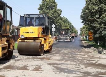 В ст.Копанской отремонтирован участок автомобильной дороги по ул. Калинина