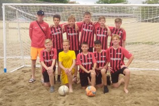 Команда «Ейск 07» Ейского района - бронзовый призер первенства Краснодарского края по пляжному футболу среди юношей 2006-2007гг.