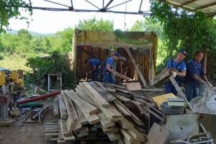 Ейская группа волонтеров продолжит работы в ст.Пятигорской до 13 июля