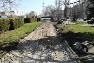 До 31 мая в Ейске будет проведено обустройство тротуара вдоль автовокзала