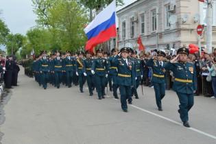 В Ейске прошел военный парад