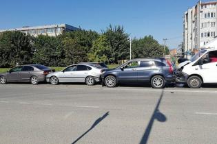 В Ейске в ДТП пострадало 5 автомобилей