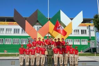 Ейский полипрофильный колледж: юнармейцы приняли участие во всеармейских соревнованиях «Чистое небо»